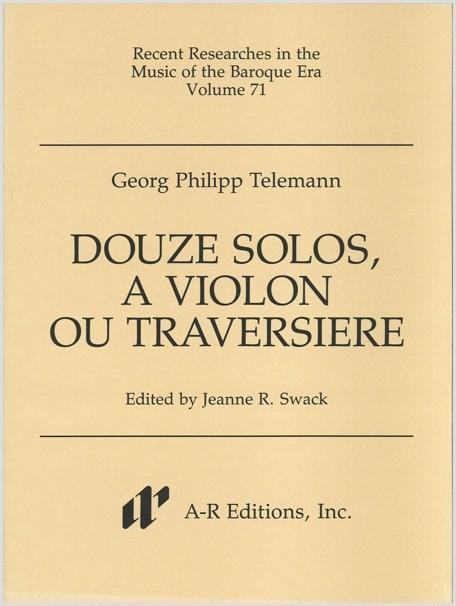 Telemann: Douze solos, à violon ou traversière