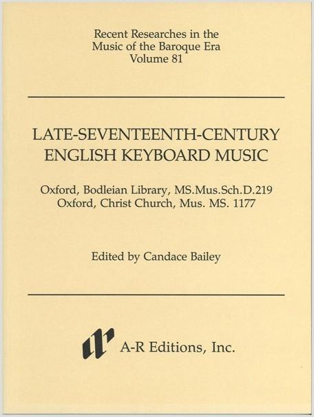 Late-Seventeenth-Century English Keyboard Music