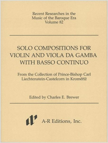 Solo Compositions for Violin and Viola da gamba with Basso continuo