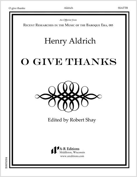 Aldrich: O give thanks