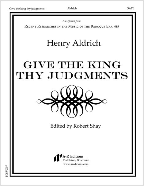 Aldrich: Give the king thy judgments