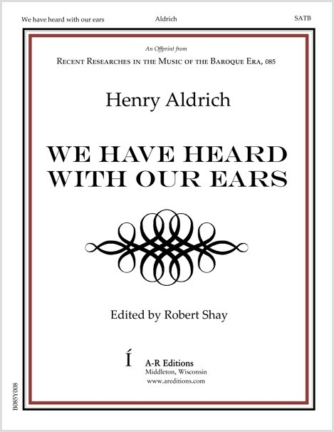 Aldrich: We have heard with our ears