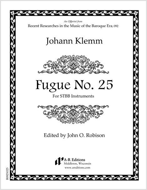 Klemm: Fugue No. 25