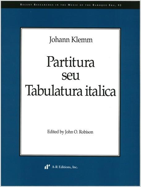 Klemm: Partitura seu Tabulatura italica