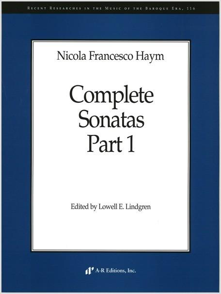 Haym: Complete Sonatas, Part 1