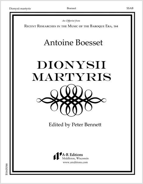 Boesset: Dionysii martyris