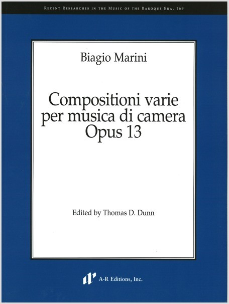 Marini: Compositioni varie per musica di camera, Opus 13