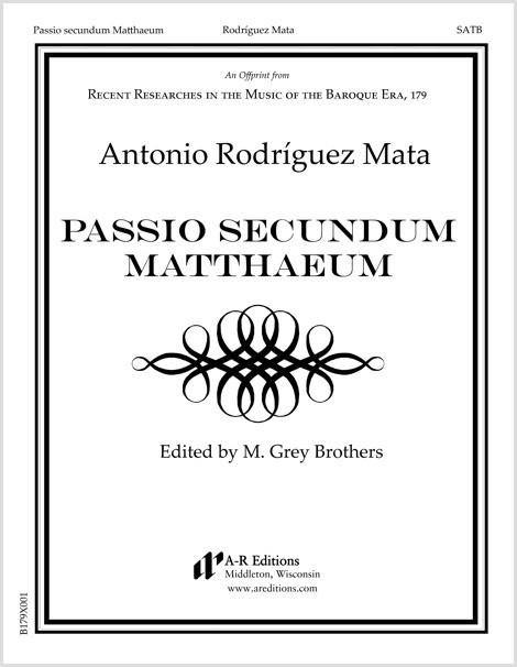 Rodríguez Mata: Passio secundum Matthaeum