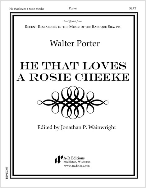 Porter: He that loves a rosie cheeke