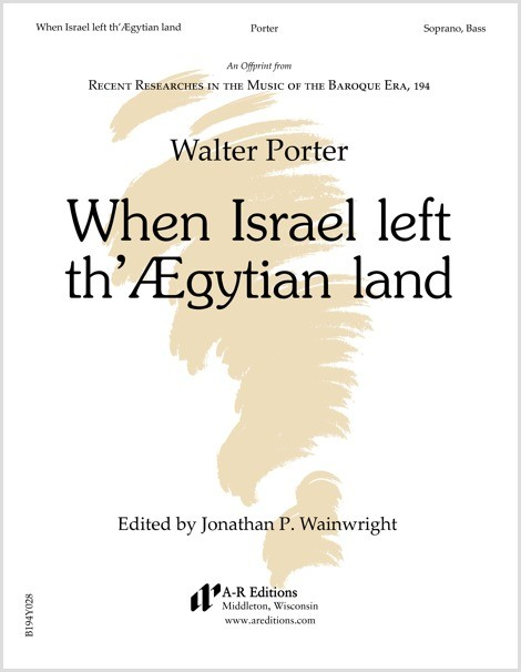 Porter: When Israel left th'Ægytian land