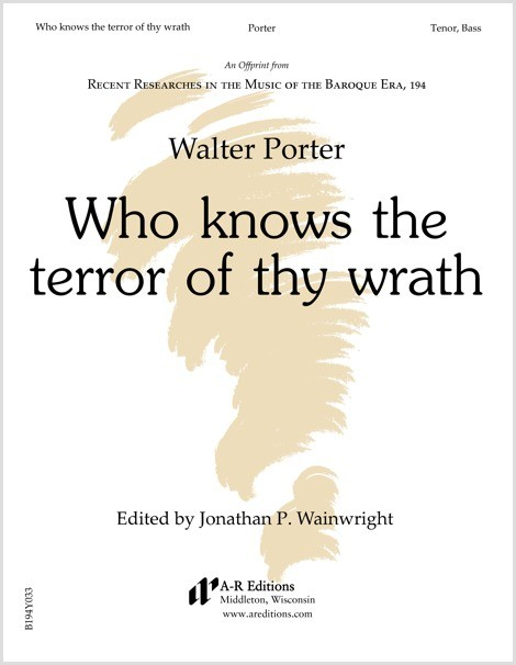 Porter: Who knows the terror of thy wrath