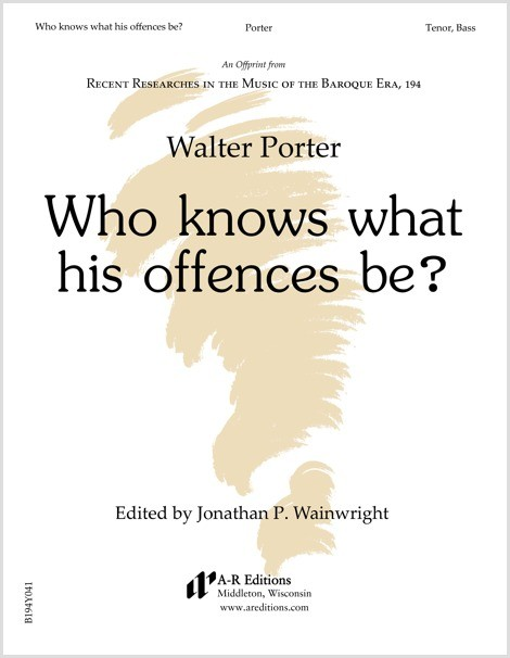Porter: Who knows what his offences be?