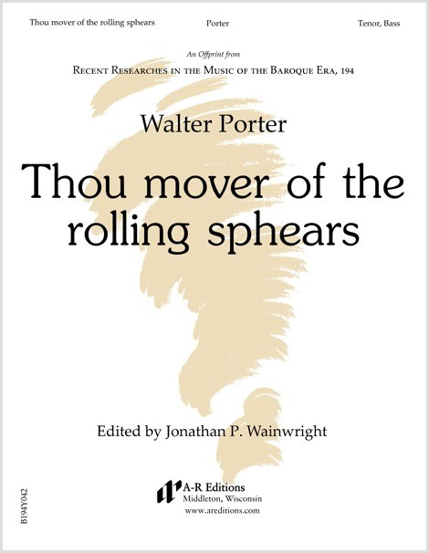 Porter: Thou mover of the rolling sphears