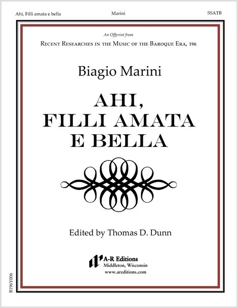 Marini: Ahi, Filli amata e bella