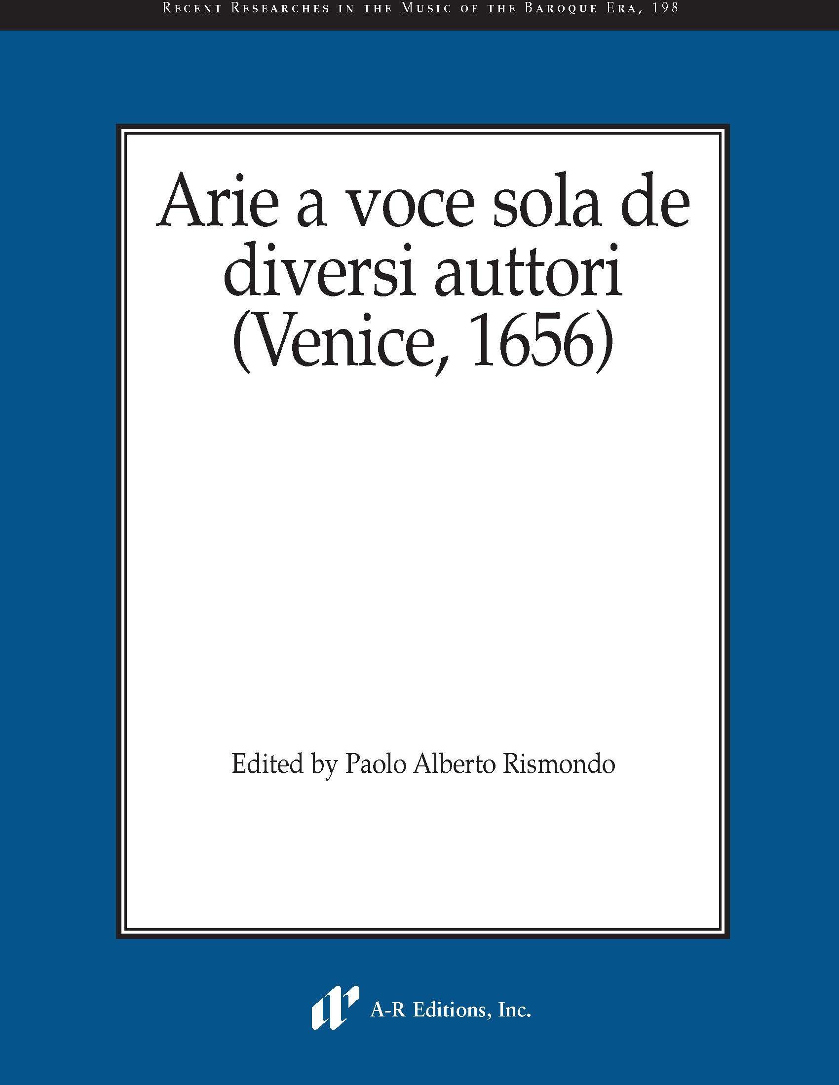Arie a voce sola de diversi auttori (Venice, 1656)