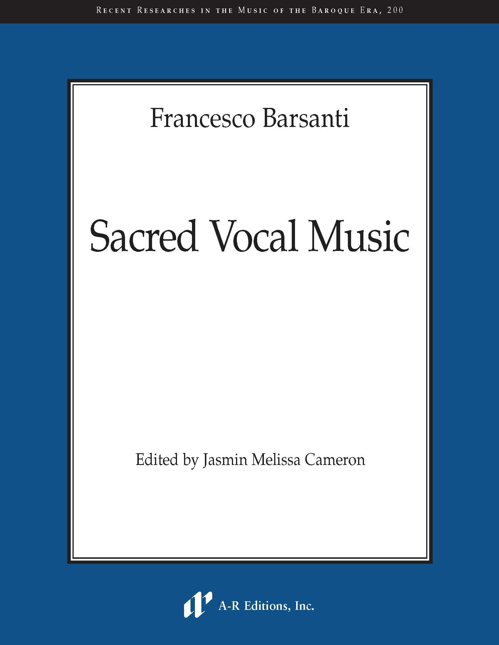Barsanti: Sacred Vocal Music