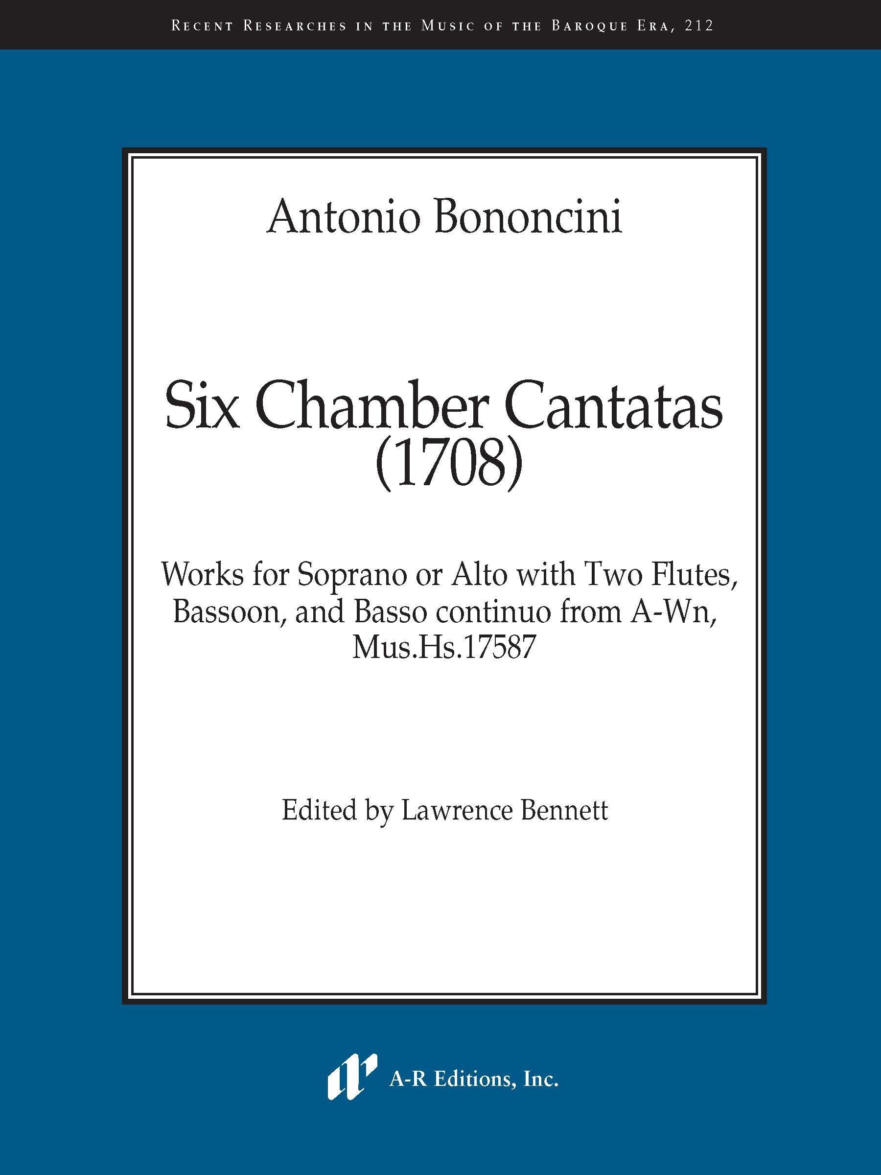Bononcini: Six Chamber Cantatas (1708)