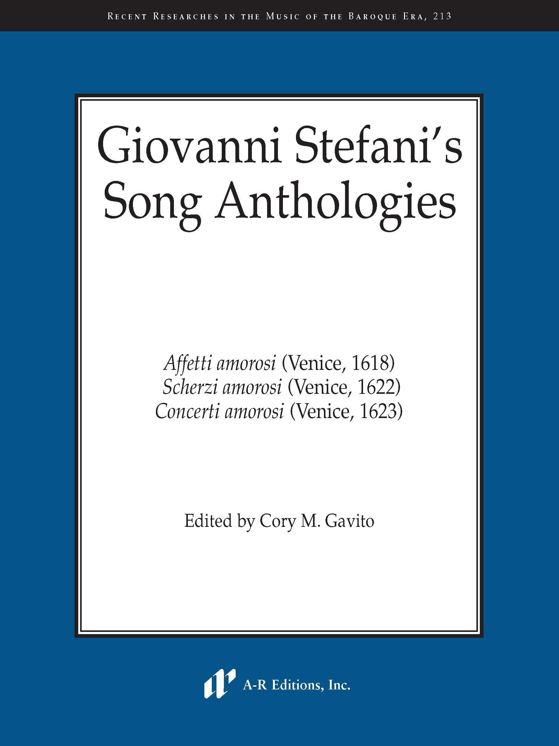 Giovanni Stefani's Song Anthologies