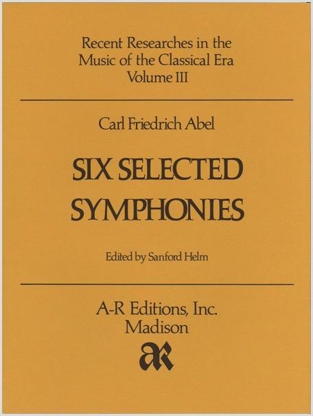 Abel: Six Selected Symphonies