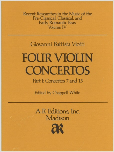 Viotti: Four Violin Concertos, Part 1