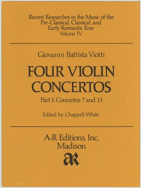 Viotti: Four Violin Concertos