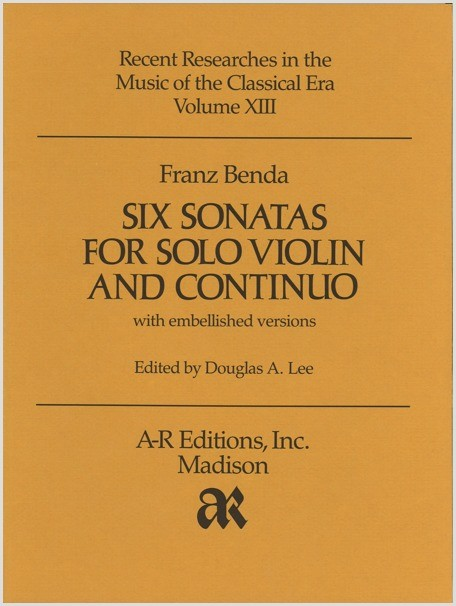 Benda: Six Sonatas for Violin