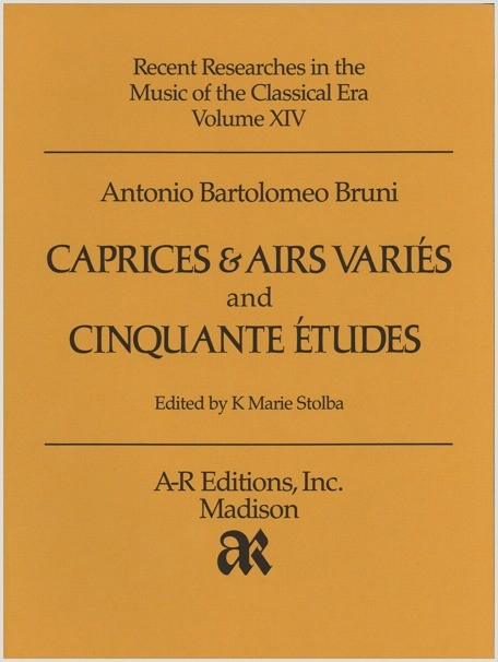 Bruni: Caprices & Airs variés and Cinquante études