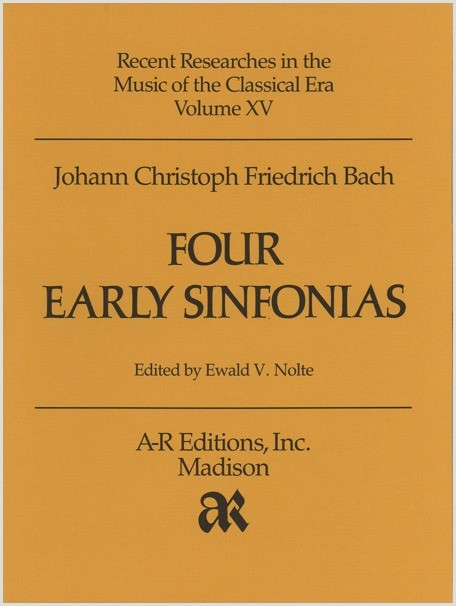 Bach, J.C.F.: Four Early Sinfonias