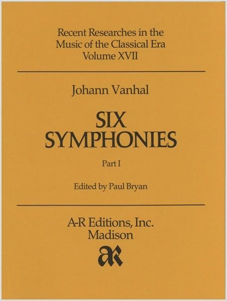 Vanhal: Six Symphonies, Part 1