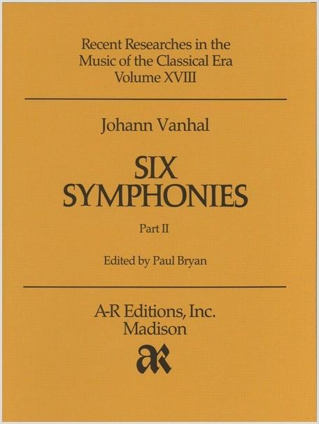Vanhal: Six Symphonies, Part 2