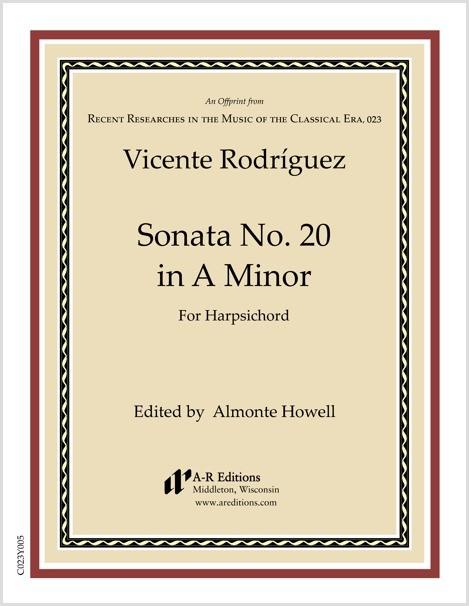 Rodríguez: Sonata No. 20 in A Minor