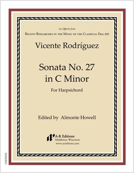 Rodríguez: Sonata No. 27 in C Minor
