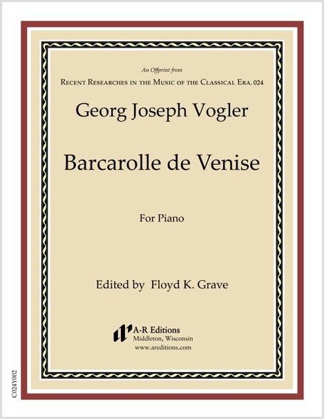 Vogler: Barcarolle de Venise