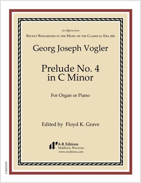 Vogler: Prelude No. 4 in C Minor