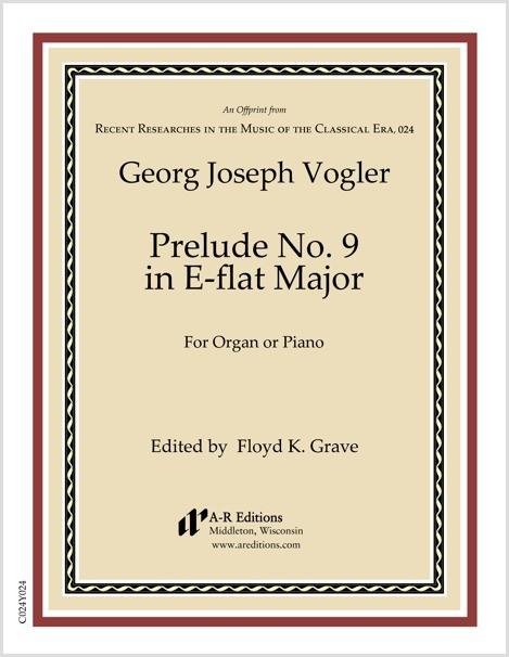 Vogler: Prelude No. 9 in E-flat Major