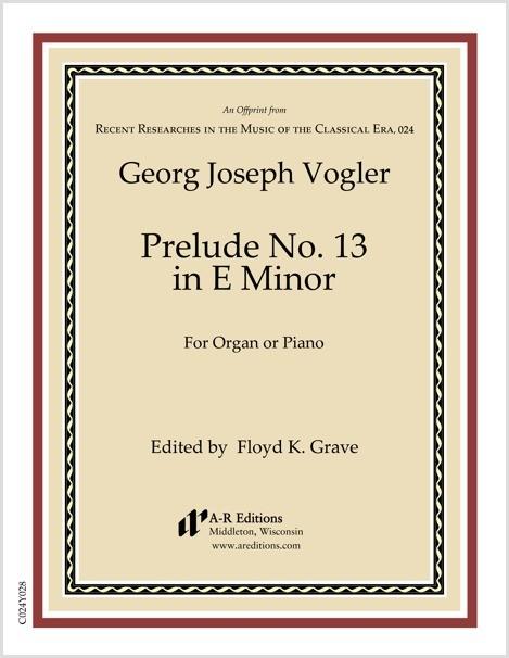 Vogler: Prelude No. 13 in E Minor