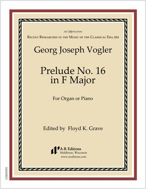 Vogler: Prelude No. 16 in F Major
