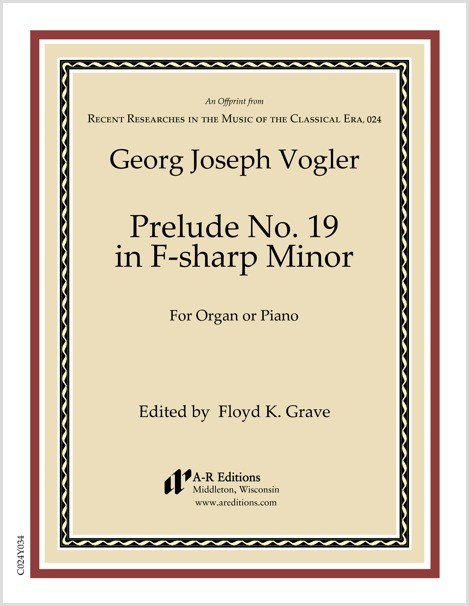 Vogler: Prelude No. 19 in F-sharp Minor