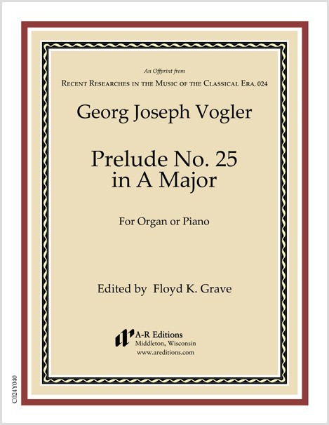 Vogler: Prelude No. 25 in A Major