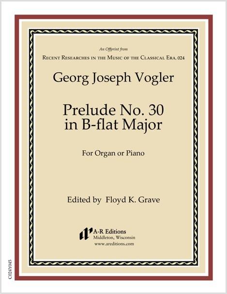 Vogler: Prelude No. 30 in B-flat Major