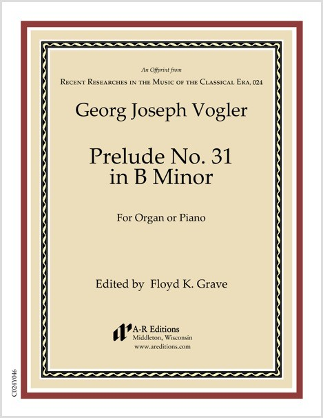 Vogler: Prelude No. 31 in B Minor