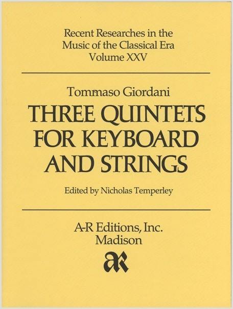 Giordani: Three Quintets for Keyboard and Strings