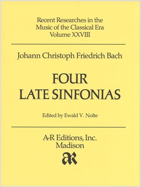 Bach, J.C.F.: Four Late Sinfonias