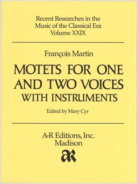 Martin: Motets for One and Two Voices with Instruments