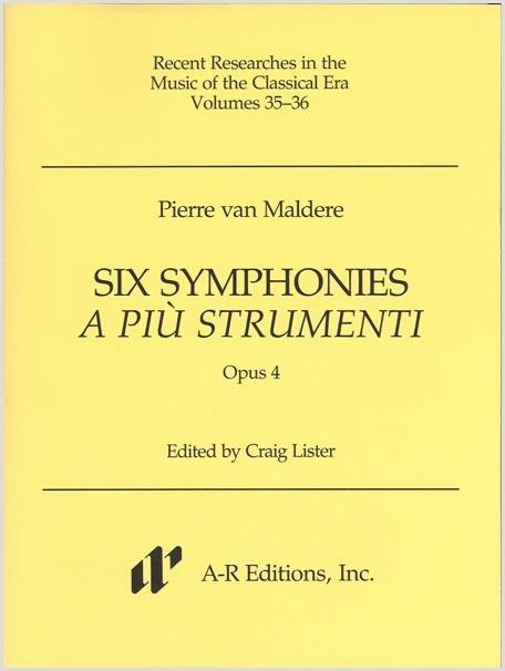 Maldere: Six Symphonies a più strumenti, Opus 4