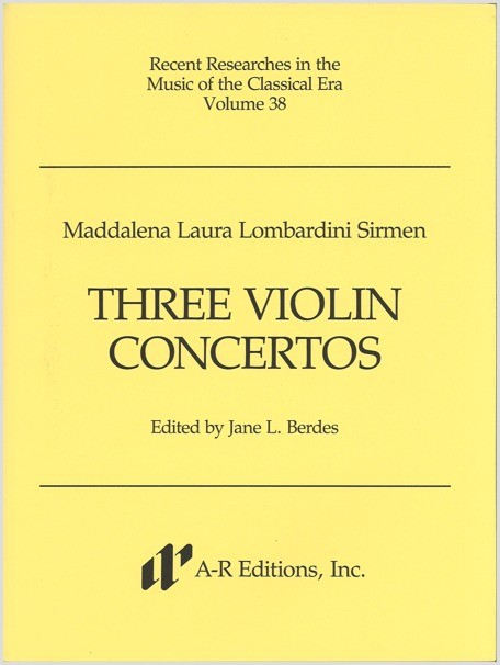 Sirmen: Three Violin Concertos