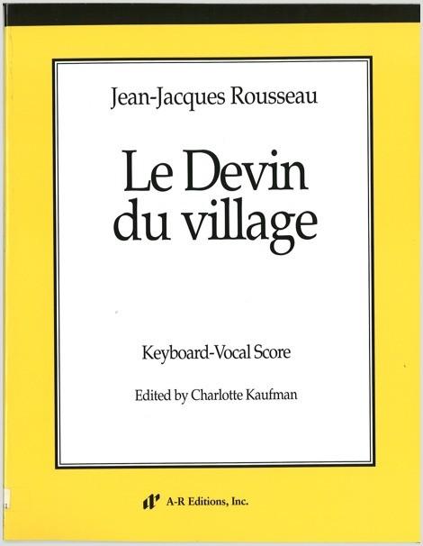 Rousseau: Le Devin du village (KV)