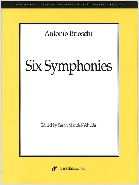 Brioschi: Six Symphonies