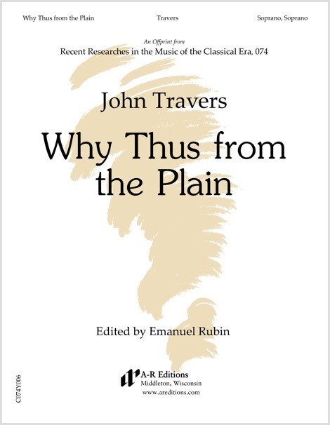 Travers: Why Thus from the Plain