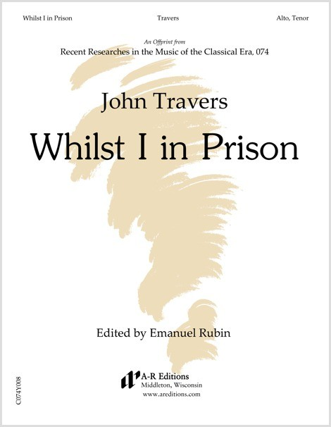 Travers: Whilst I in Prison